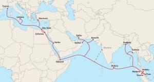 mapa de ruta shiping KSA