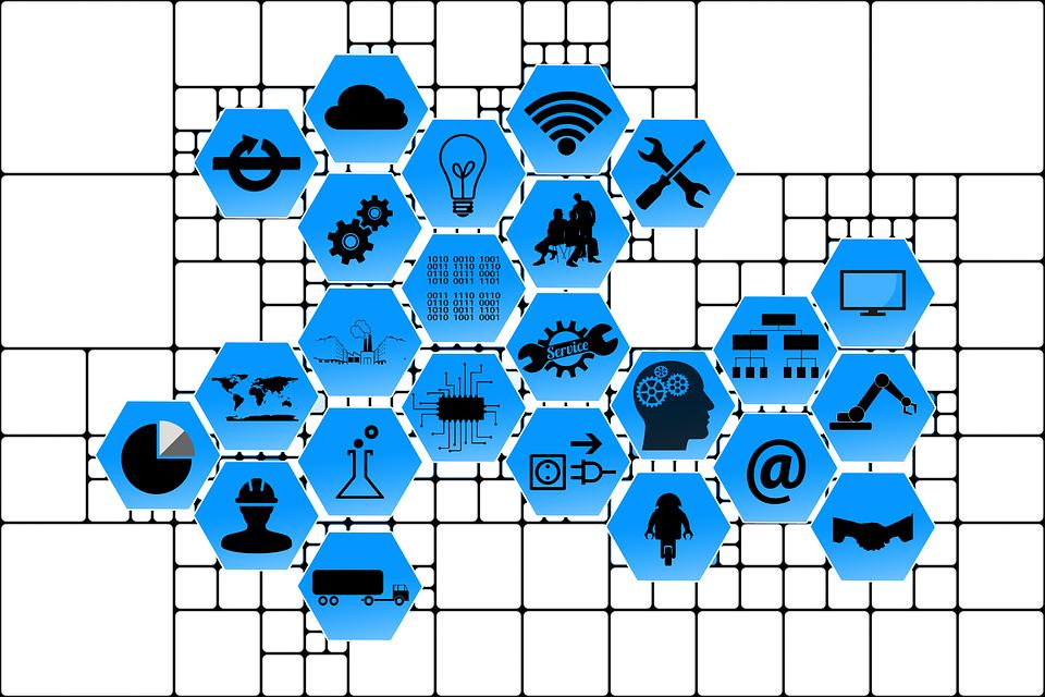 iconos actividad económica en red