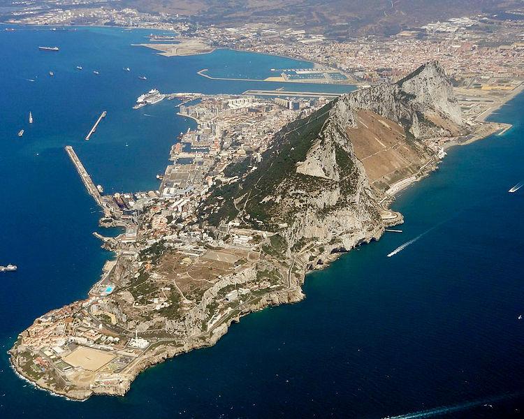 Vista aérea de Gibraltar