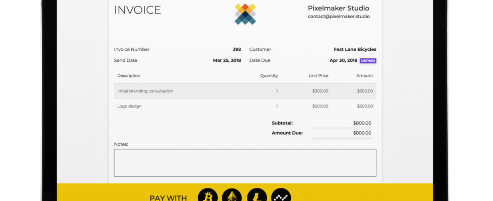 invoice bitcoin