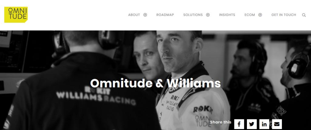 imagen oficial colaboración omnitude y williams