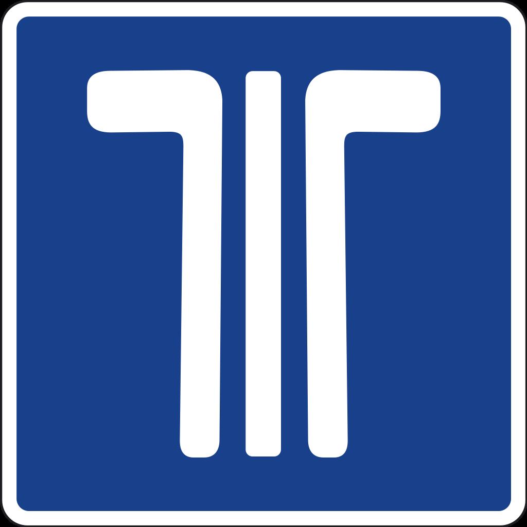 señal de tráfico via-t